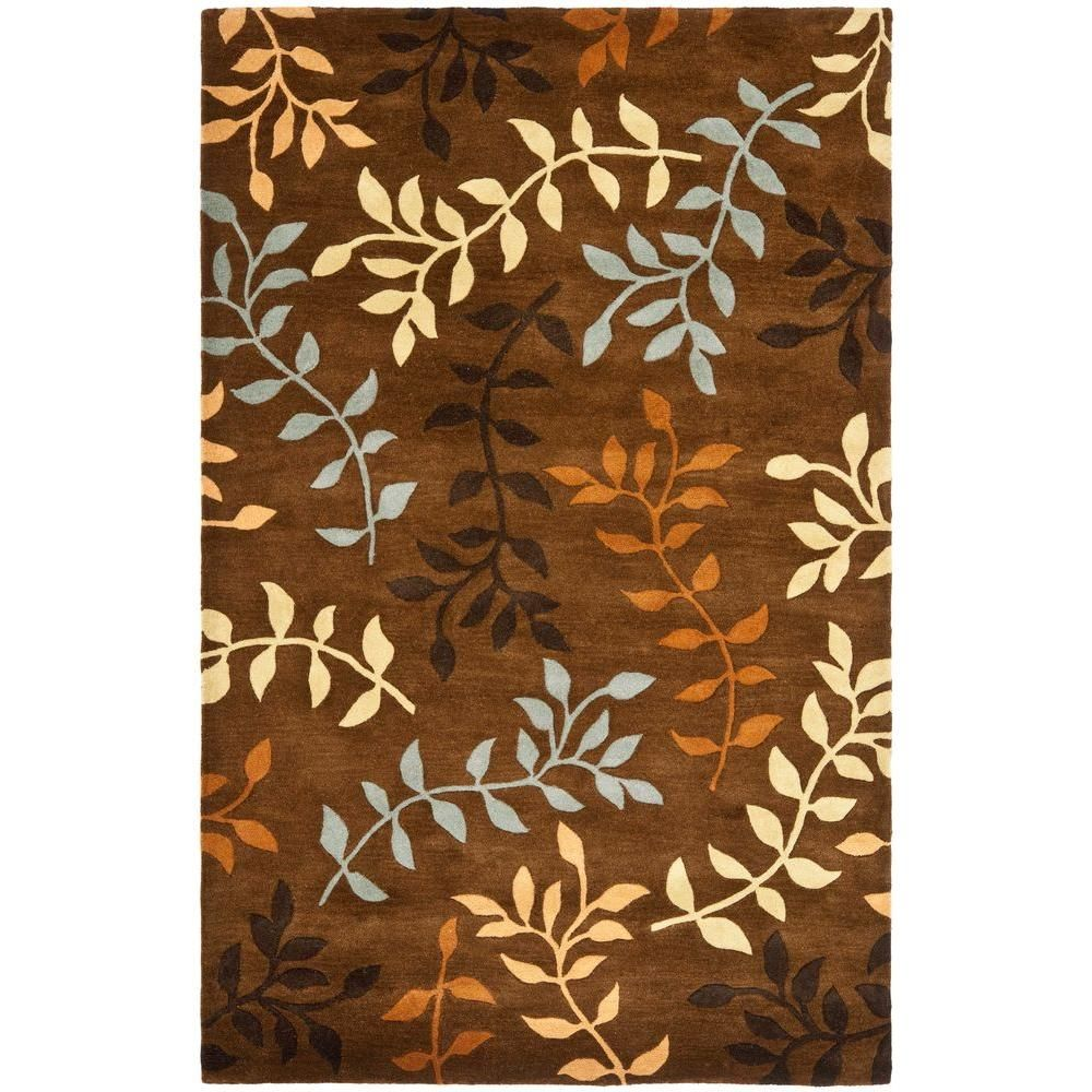 Soho Brown/Multi 5 ft. x 8 ft. Area Rug