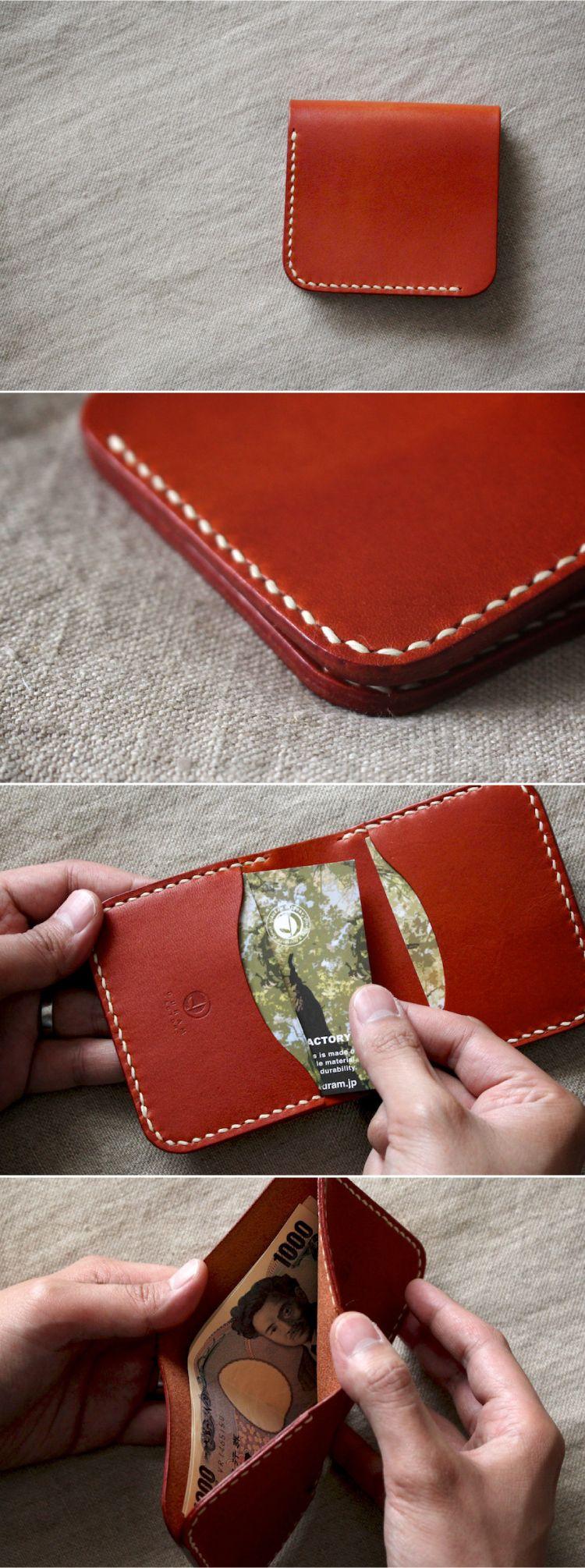 Compact Leather Wallet | Leder, Taschen nähen und Leder portemonnaie