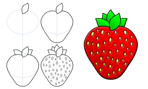 how to draw a strawberry create pinterest drawings doodles