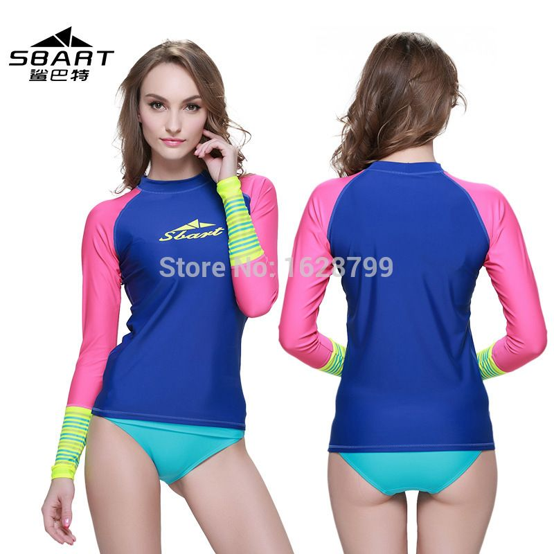 4242a057823 SBART NEW Rashguard Women Swim Shirts Womens Rash Guard Swimwear Female  Lycra Anty 50 UV Rushguard Long Sleeve Swimsuit