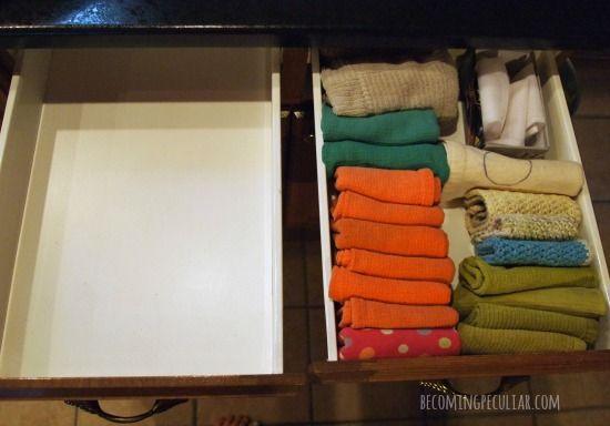 Folding Dish Towels The Konmari Way How To Fold Towels Konmari Method Folding
