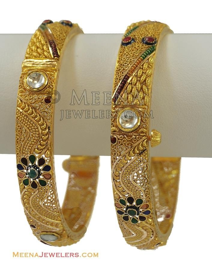 Lovely Gold Kundan Chur Contemporary - Jewelry Collection Ideas ...