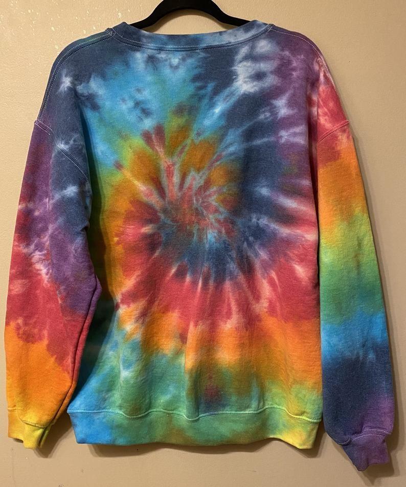 Large tie dye crewneck sweatshirt etsy in 2020 tie dye