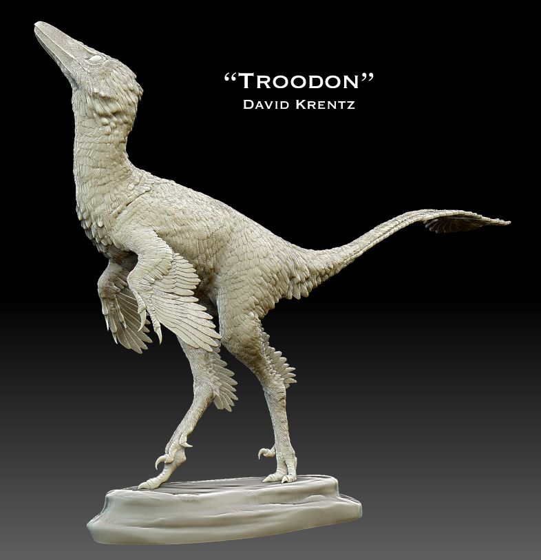 Troodon by David Krentz Dinosaurs: 3D print edition #dinosaurart