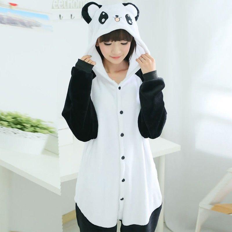 Happy panda adult animal onesie pajamas costume pijamas