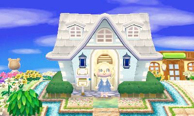 Pale Blue Exterior Animal Crossing Leaf Animal Crossing Acnl
