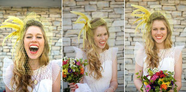 #casamento criativo com véu #amarelo