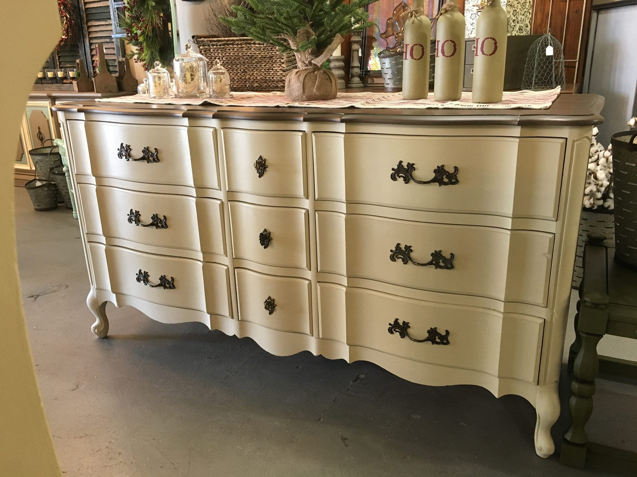 Lovely French Provincial dresser painted with Chalk Paint by Annie
