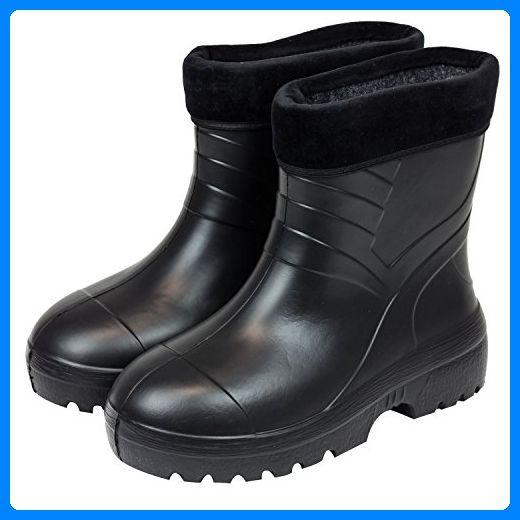 35a2b53468476e Gefütterte Gummistiefel Damen Herren Regenstiefel Schuhe schwarz Gr. 40 -  Stiefel für frauen ( Partner-Link)