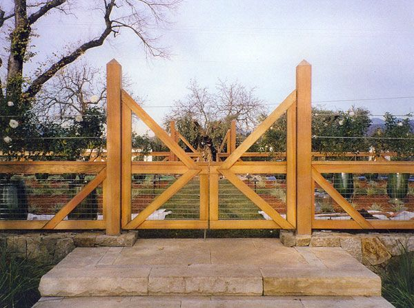 Wood And Wire Gate Fence I Think This Is How Can Build Our