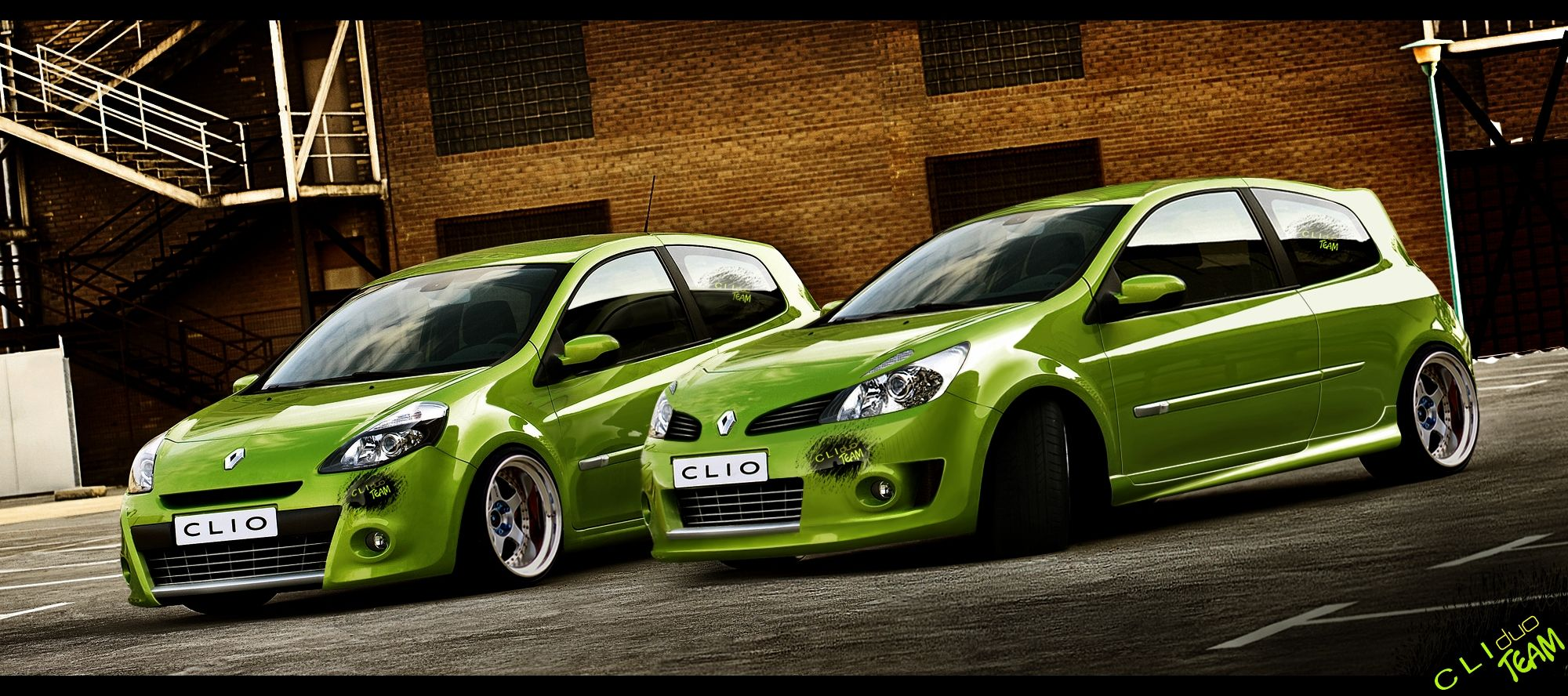 clio 3 tuning vert pomme tuning misterauto piecesauto green pinterest cars. Black Bedroom Furniture Sets. Home Design Ideas