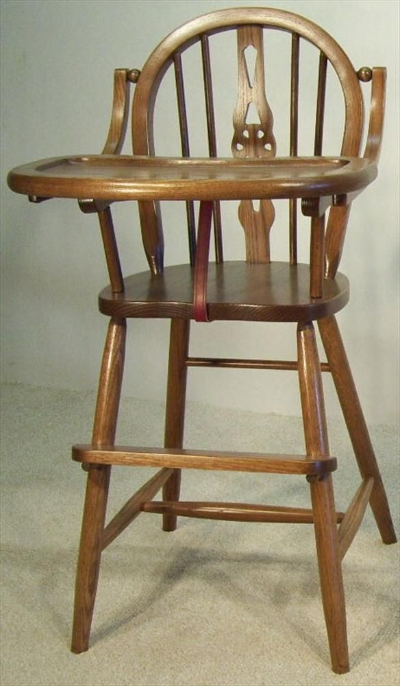 Baby Furniture Wood High Chair Amish Windsor Style East of