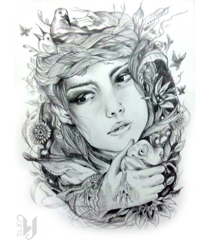 Mother nature pencil drawings vj arts mother nature pencil sketch buy vj arts mother nature pencil