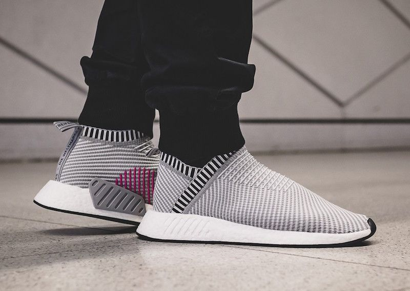 31056831a The adidas NMD City Sock 2 Primeknit Shock Pink Pack Grey