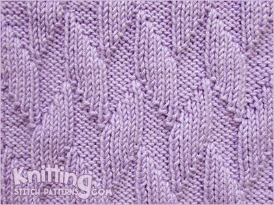 Knitting Stitches Same On Both Sides : Alternating Diagonals Reversible pattern looks exactly the same on both sid...
