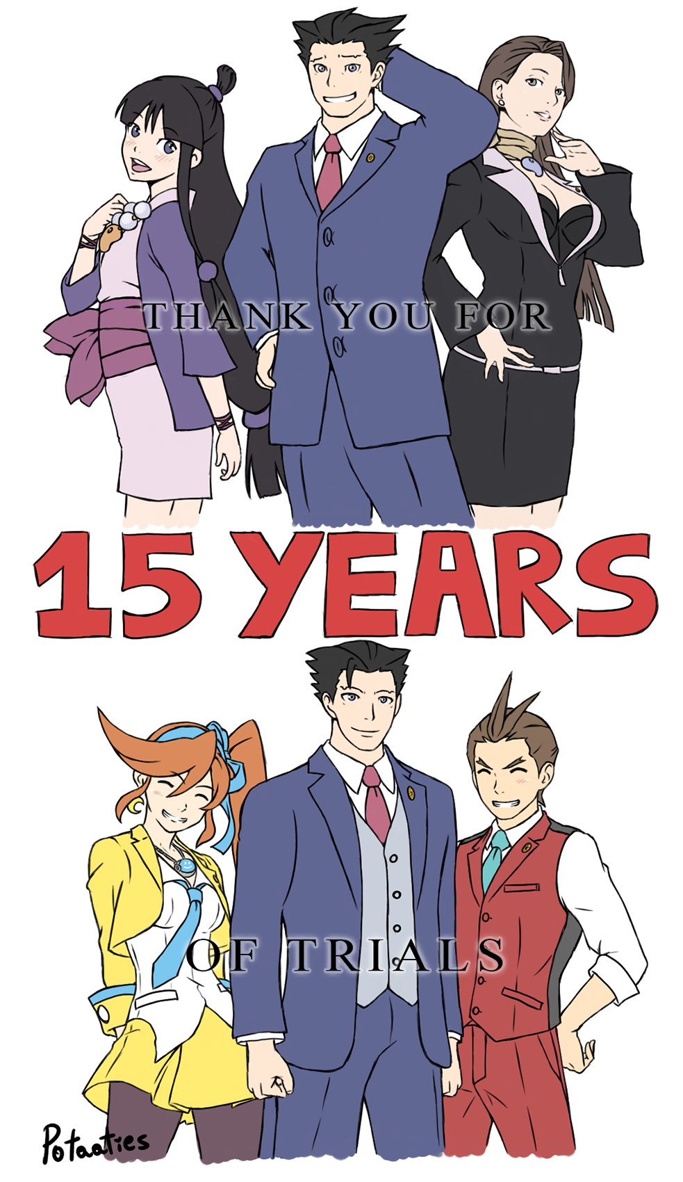 15 Years Of Trials 15 Years Of Objections 15 Years Of Truth Thank You Ace Attorney Phoenix Wright Ace Attorneys