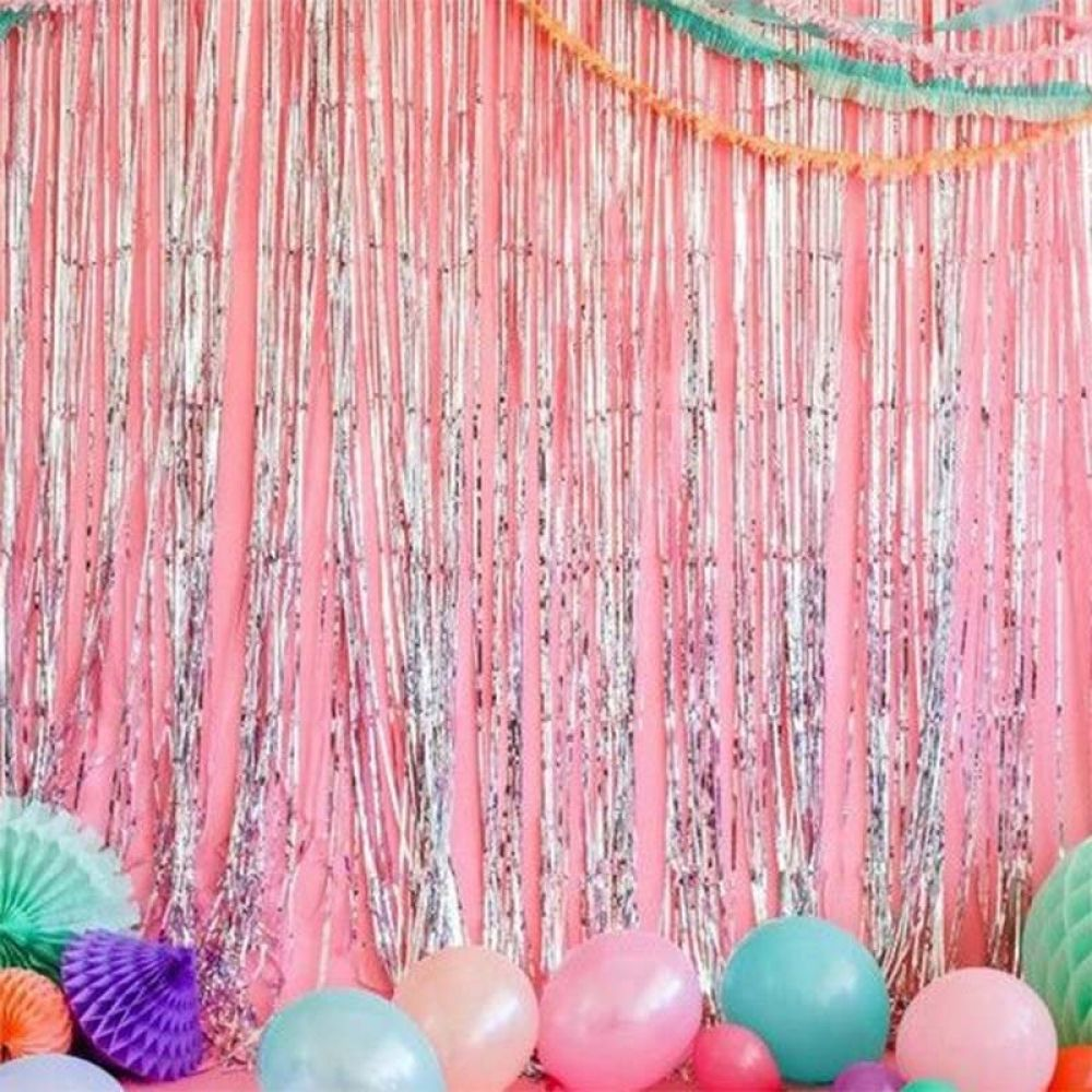 1 Pcs Door Curtain Decoration Fringe Tinsel For Birthday Party Wedding Background Backdrop Fp8 No22 Diy Party Decorations Curtain Decor Affordable Wedding Decorations