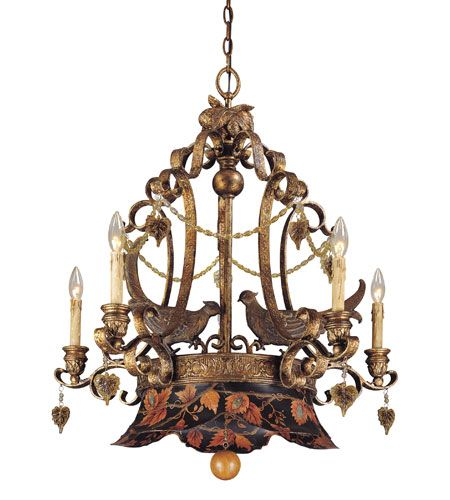 Tracy Porter Rooster Chandeliers Savoy House Regal Pheasant 5 Light Chandelier In Hand
