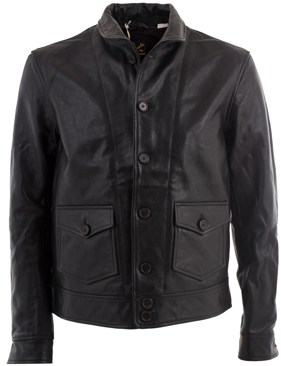 The quintessential black leather jacket taken straight