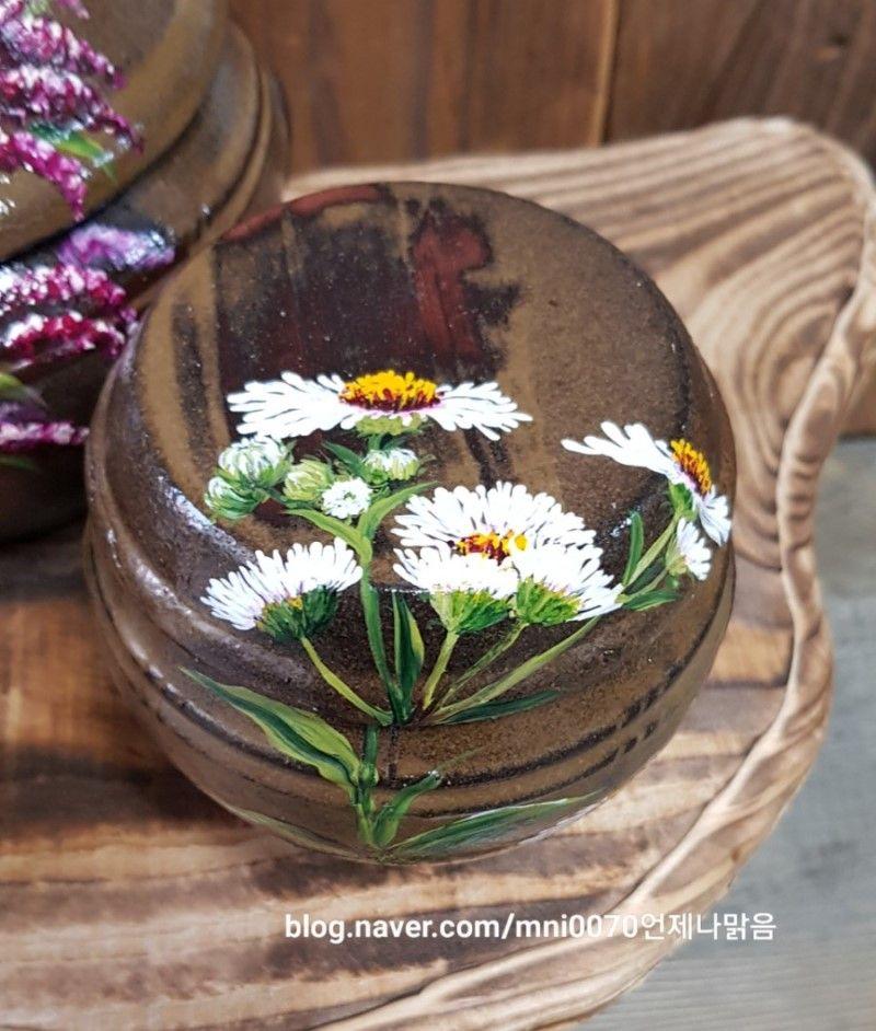 언제나맑음공방 천아트 광목그림 항아리그림 네이버 블로그 나무 미술 꽃그림 꽃 스케치