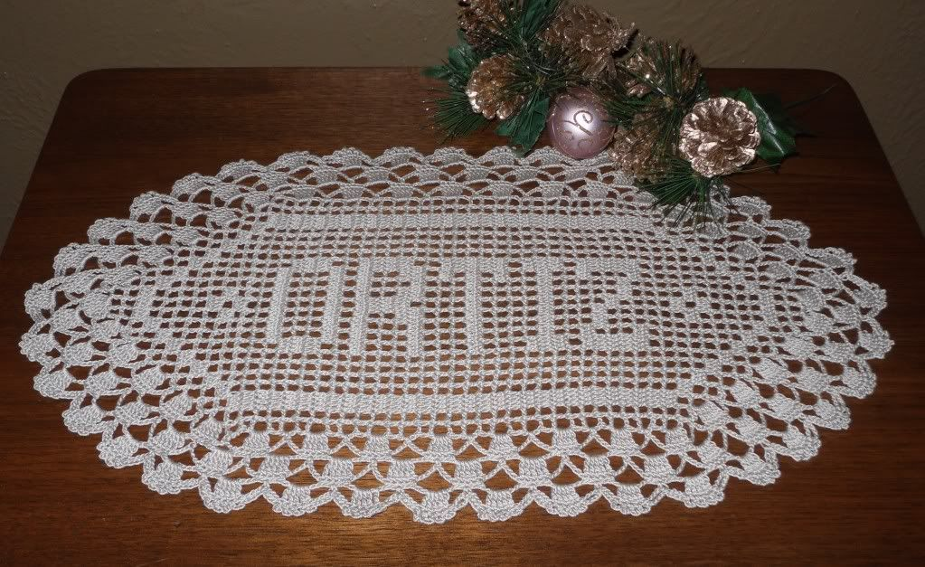 Filet Crochet Name Doily Doilies - Patterns Images - Frompo ...