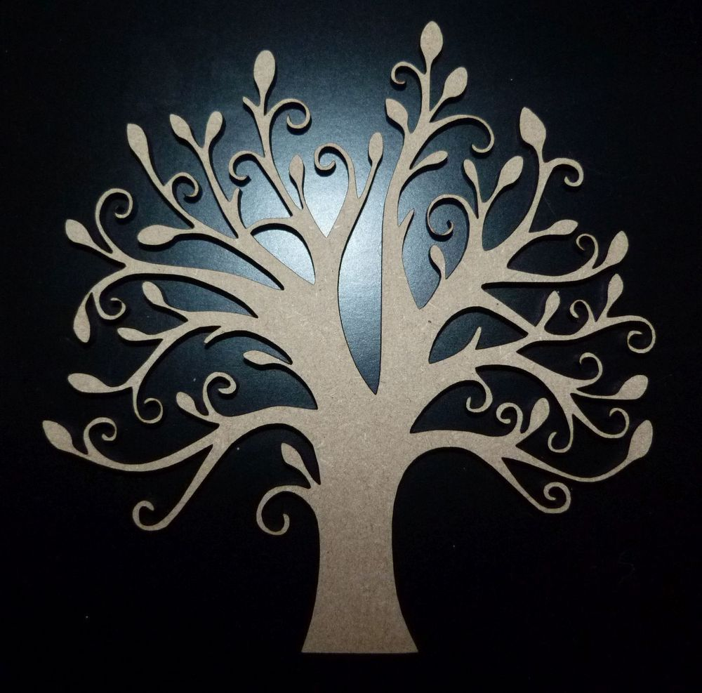 Blank Shape wooden shape Wooden Craft MDF Family Tree Craft
