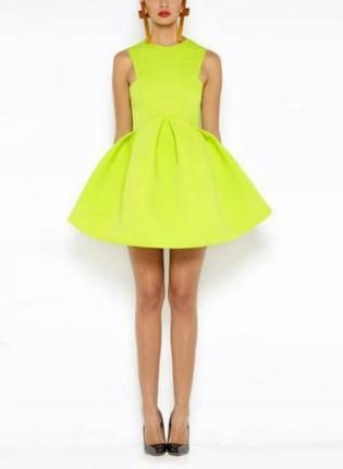 Lime Green Club Dresses Lime Green Slee...
