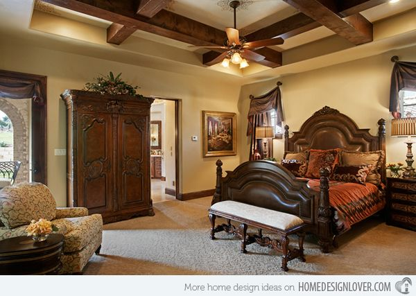 15 Extravagantly Beautiful Tuscan Style Bedrooms Home Design Lover Tuscan Style Bedrooms Old World Bedroom Tuscan Bedroom