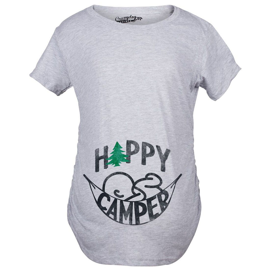 d01fc07047e8f Maternity Happy Camper Funny Camping Baby Bump Pregnancy Announcement T  shirt | CrazyDog Tshirts
