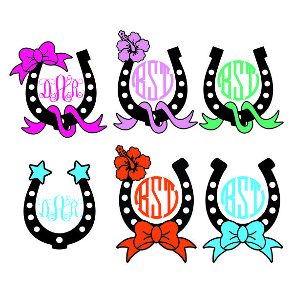 Horse Horseshoe Svg Cuttable Frame Designs Monogram Fonts Embroidery Designs Apex Embroidery