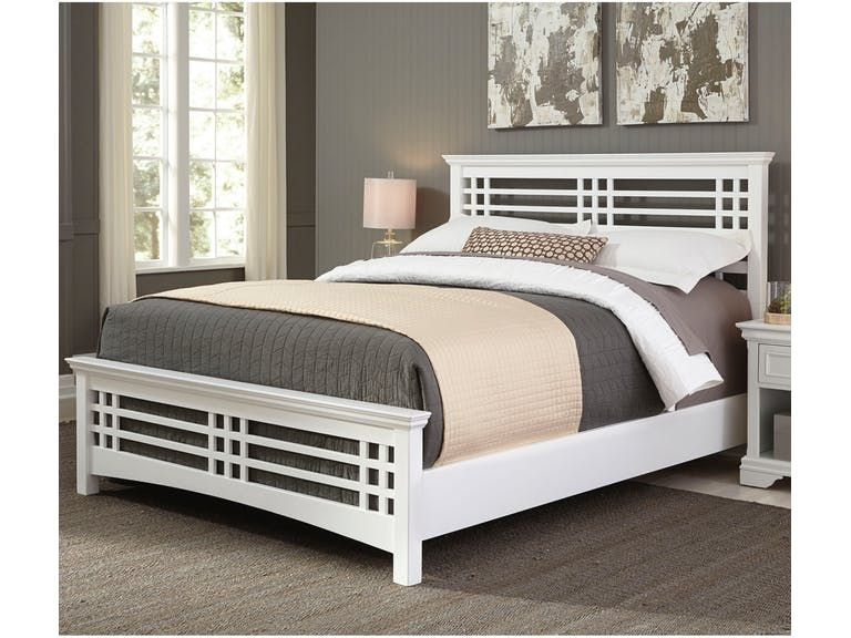 Fashion Bed Group Bedroom Avery Complete With Wood Frame And Mission Style Design Cottage White Finish King B21156 Outer Banks Furniture Nags Head