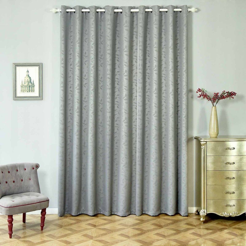 Charcoal Gray Soundproof Curtains 2 Packs Embossed Curtains 52