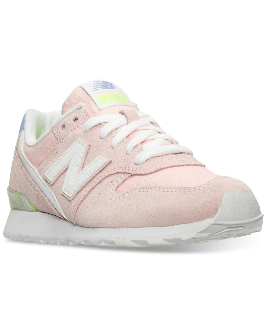 d906603e4e78f New Balance Women's 696 Striped Casual Sneakers from Finish Line ...