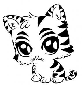 How To Draw A Cute Tiger Step 6 1 000000028083 3 Jpg 284 302 Dieren Baby Dieren Drawing