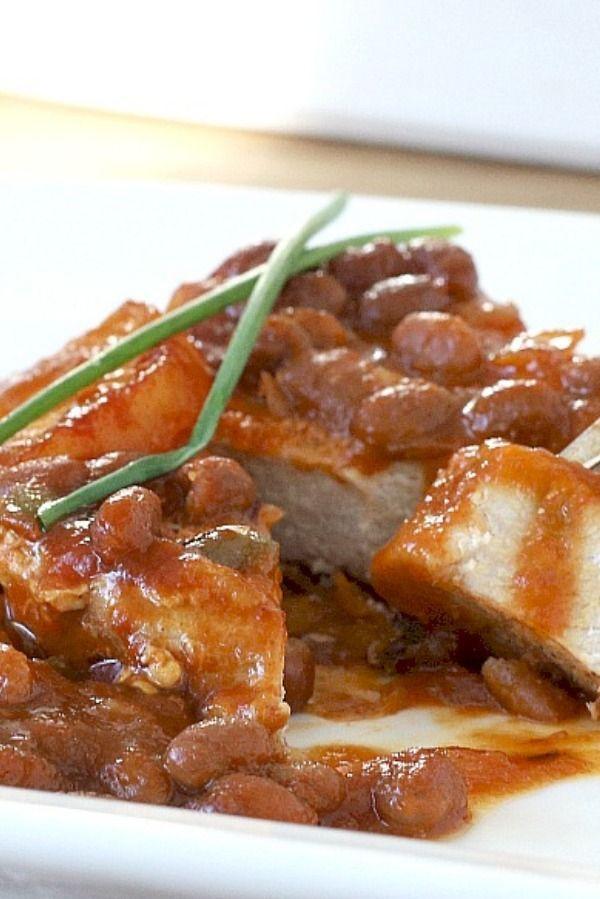 Hawaiian Pork Chops & Baked Beans   -  GPTHeart Blog