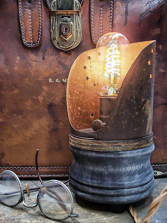 primitive lighting ideas. Primitive Country Light End Table Steampunk Lighting Ideas G
