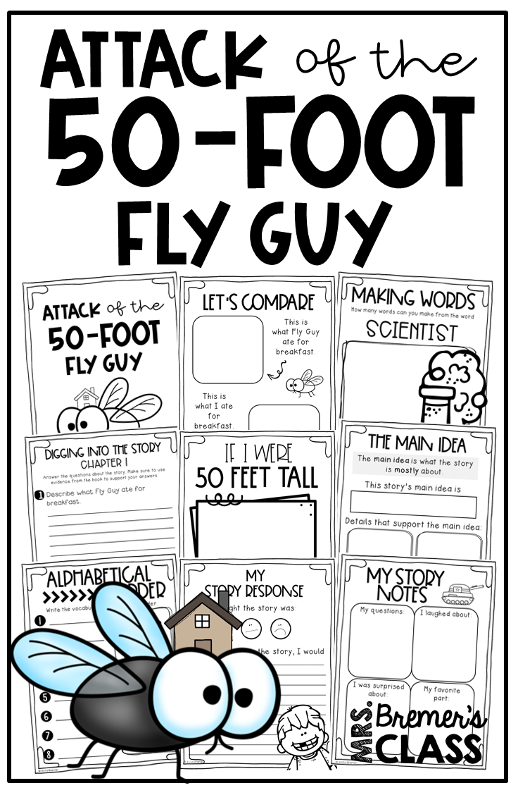 Attack Of The 50 Foot Fly Guy Book Study Companion Activities To Go With The Book Picture Book Activities Childrens Books Activities Guided Reading Activities