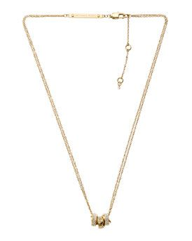 Michael Kors Michael Kors Three-Ring Necklace, Golden