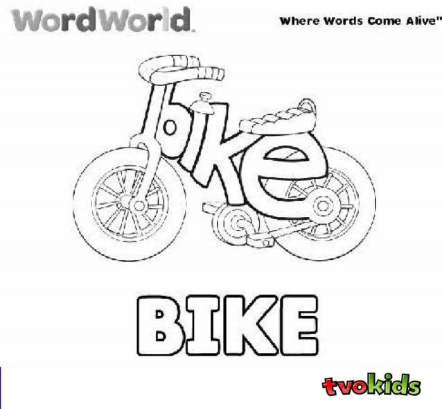 Preschool Word World Colouring Printable - Colour the word \