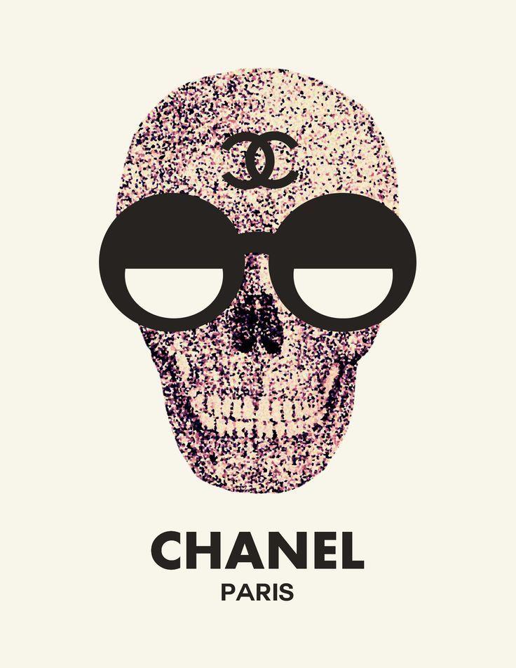 3d2d018908c159e5bc21f5f52949c5cf Jpg 736 952 Fondo De Pantalla Chanel Chanel Calaveras