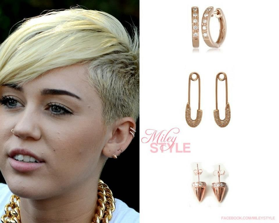 Style_Miley : @Miley Cyrus Earrings! 1) Hoop by KC Designs ...