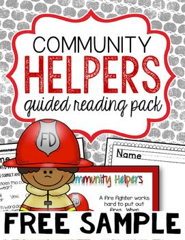 This Free Sample Of My Guided Reading Pack Focuses On The Job Of A