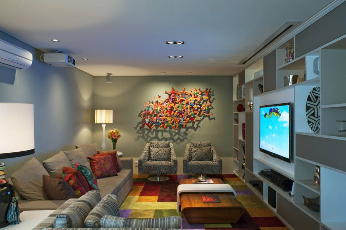 Living Com Obra de Arte : Salas de estar modernas por KTA - Krakowiak & Tavares Arquitetura