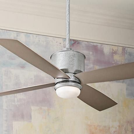 52 Minka Aire Strata Galvanized Ceiling Fan With Light Kit X0134 Lamps Plus