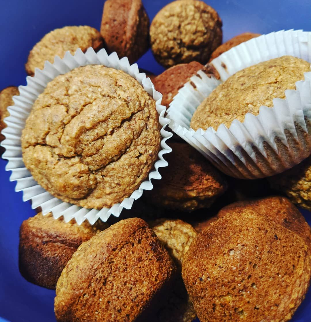 Some homemade muffins for the morning.  Simple and prepared in one bowl.  That's my kind of meal prep.