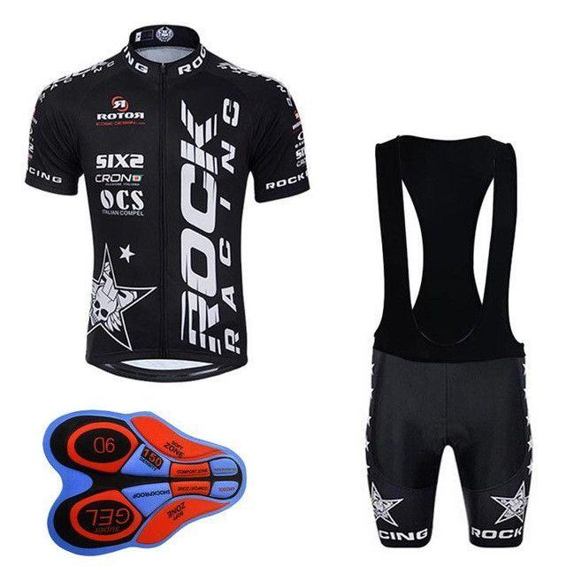 4fed71d64 Pro Team Rock Racing Short Sleeve Cycling Jersey   Bib Set ...
