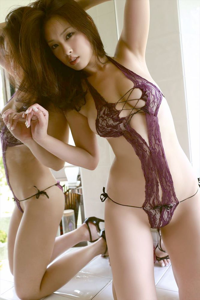 Asian girls nice boobs see thru nitey lingerie