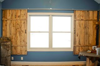I want to do this in my master bedroom looks cool and for Barn door window covering