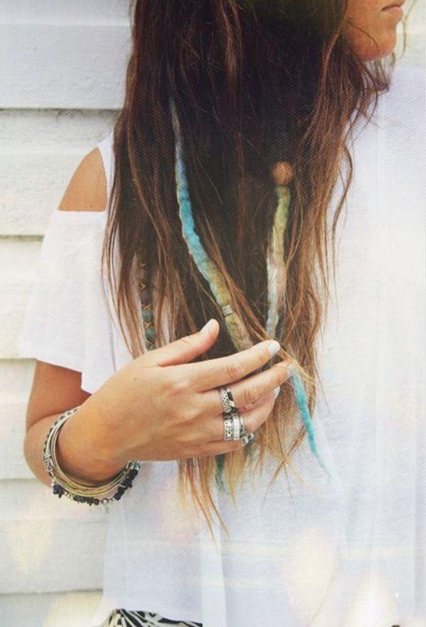 Just A Few Dreads Hippie Hair Partial Dreads Hair