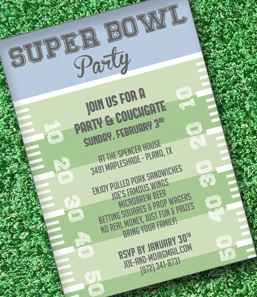 DIY Super Bowl Invitation Template from #DownloadandPrint   - free party invitation templates word